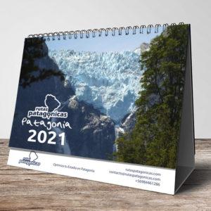 Pack 10 de Calendarios Escritorio Rutas Patagónicas 2021