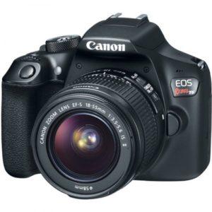 Cámara DSLR Canon T6 con lente 18-55