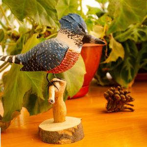 Réplica Pájaro Martín Pescador en pedestal
