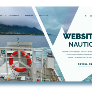 Plataforma Web Site Reserva Inteligente Transporte Náutico