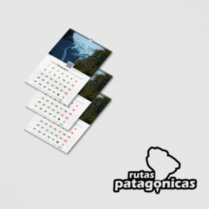 Set 3 Calendarios Rutas Patagónicas de Pared 2021